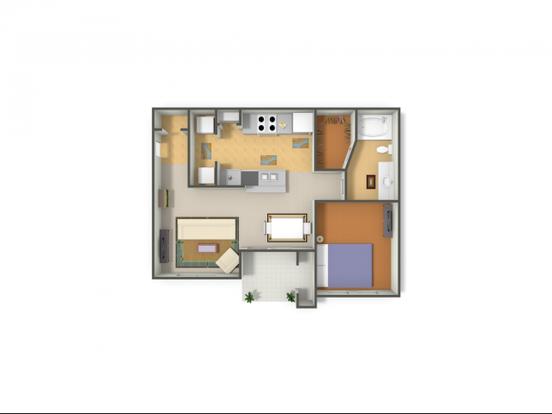 1 Bedroom 1 Bathroom Apartment for rent at Rock Ridge in Arlington, TX