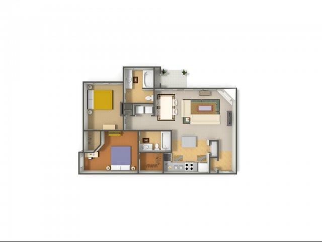 2 Bedrooms 2 Bathrooms Apartment for rent at Rock Ridge in Arlington, TX