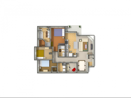 3 Bedrooms 2 Bathrooms Apartment for rent at Rock Ridge in Arlington, TX
