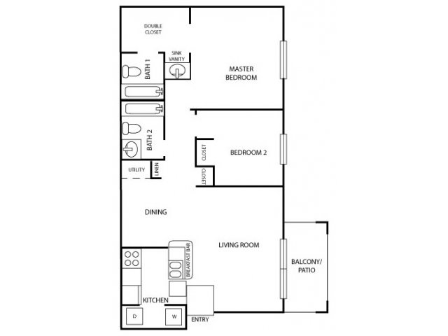 2 Bedrooms 2 Bathrooms Apartment for rent at Westfield Club Apartments in Lansing, MI