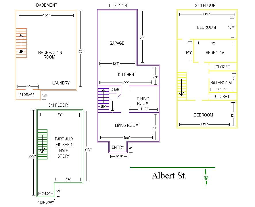 3 Bedrooms 2 Bathrooms House for rent at 409 Albert Street in East Lansing, MI