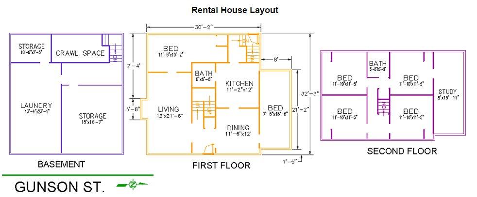 5 Bedrooms 2 Bathrooms House for rent at 141 Gunson Street in East Lansing, MI