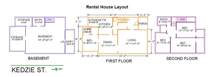4 Bedrooms 3 Bathrooms House for rent at 139 Kedzie Street in East Lansing, MI