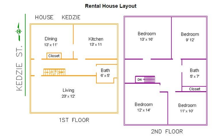4 Bedrooms 2 Bathrooms House for rent at 238 Kedzie Street in East Lansing, MI