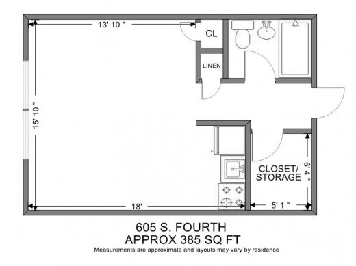 Studio 1 Bathroom Apartment for rent at The Factory in Champaign, IL