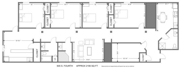 4 Bedrooms 3 Bathrooms Apartment for rent at The Factory in Champaign, IL