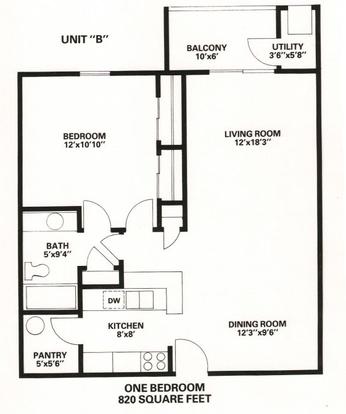 1 Bedroom 1 Bathroom Apartment for rent at Fairfax Apartments in Lansing, MI