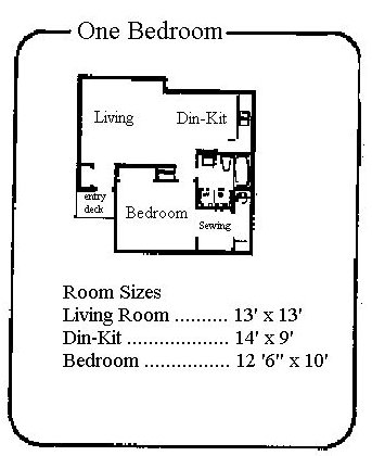 1 Bedroom 1 Bathroom Apartment for rent at Edgewood Village in East Lansing, MI