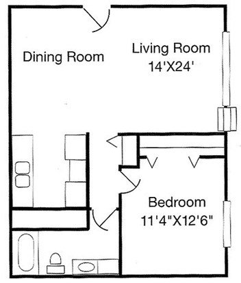 1 Bedroom 1 Bathroom Apartment for rent at Ashton Lake Apartments in East Lansing, MI