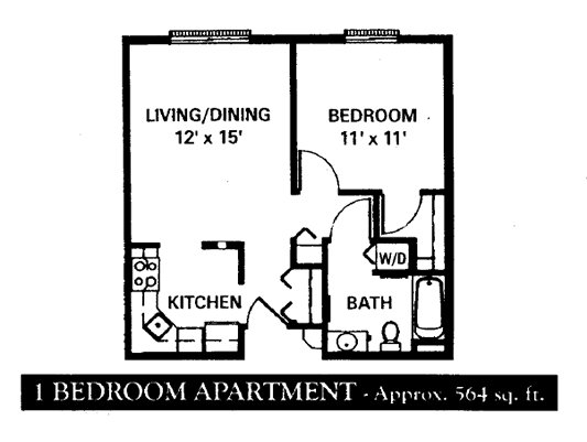 1 Bedroom 1 Bathroom Apartment for rent at Covington Woods in Lansing, MI