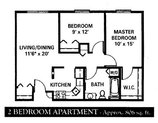 2 Bedrooms 1 Bathroom Apartment for rent at Covington Woods in Lansing, MI