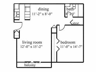 1 Bedroom 1 Bathroom Apartment for rent at Tammany Hills in Lansing, MI