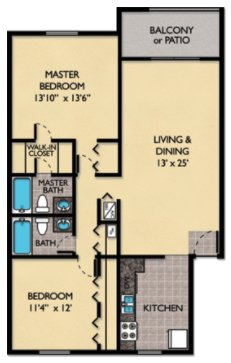 2 Bedrooms 2 Bathrooms Apartment for rent at Windmeadows Apartments in Gainesville, FL