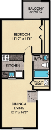 1 Bedroom 1 Bathroom Apartment for rent at Windmeadows Apartments in Gainesville, FL