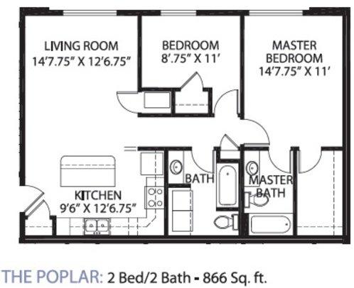 2 Bedrooms 2 Bathrooms Apartment for rent at Glencoe Oaks in Ann Arbor, MI