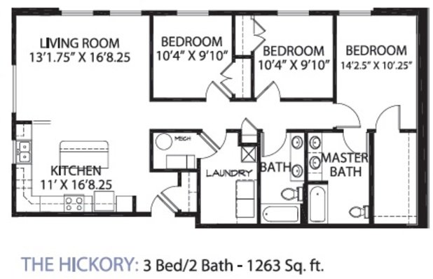 3 Bedrooms 2 Bathrooms Apartment for rent at Glencoe Oaks in Ann Arbor, MI