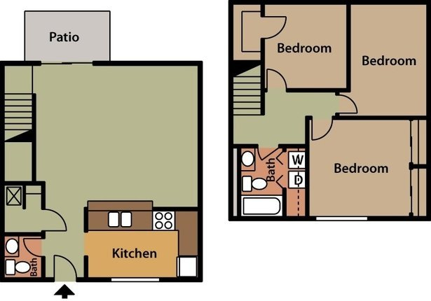3 Bedrooms 2 Bathrooms Apartment for rent at Oakwood Apartments And Townhomes in Toledo, OH