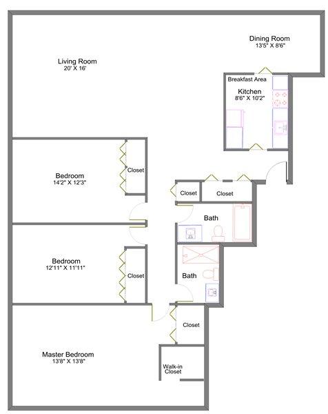 3 Bedrooms 2 Bathrooms Apartment for rent at Lansing Tower in Lansing, MI