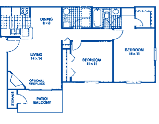 2 Bedrooms 1 Bathroom Apartment for rent at Club Meridian in Okemos, MI
