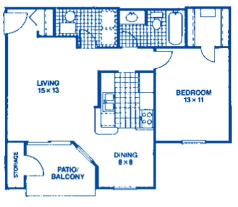 1 Bedroom 1 Bathroom Apartment for rent at Club Meridian in Okemos, MI