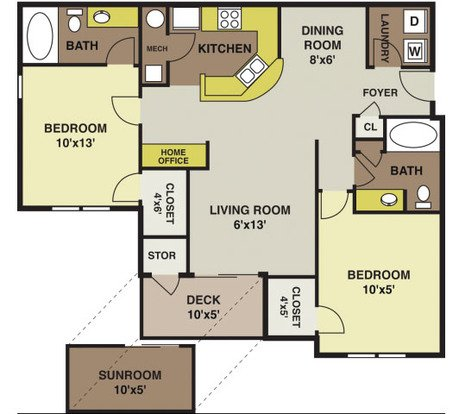 2 Bedrooms 2 Bathrooms Apartment for rent at Polo Village in Columbia, SC