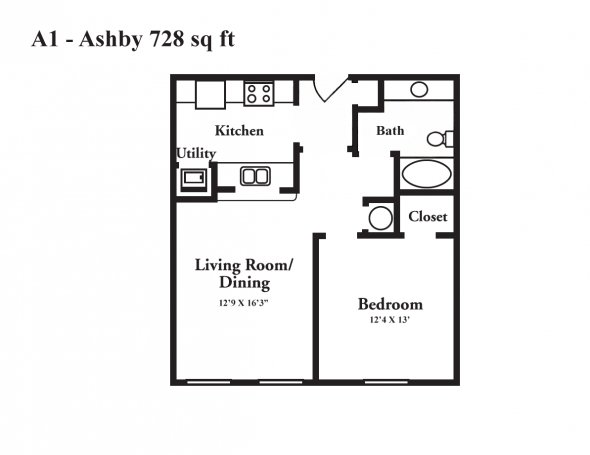 1 Bedroom 1 Bathroom Apartment for rent at Crowne At Cahaba River in Birmingham, AL