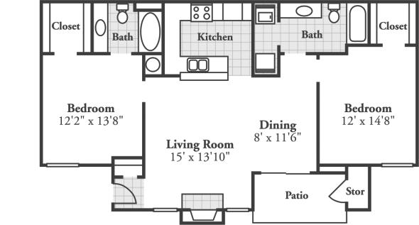 2 Bedrooms 2 Bathrooms Apartment for rent at Crowne At Grandview in Birmingham, AL
