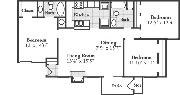 3 Bedrooms 2 Bathrooms Apartment for rent at Crowne At Grandview in Birmingham, AL
