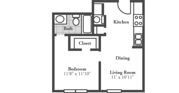 1 Bedroom 1 Bathroom Apartment for rent at Crowne At Campus Pointe in Knoxville, TN