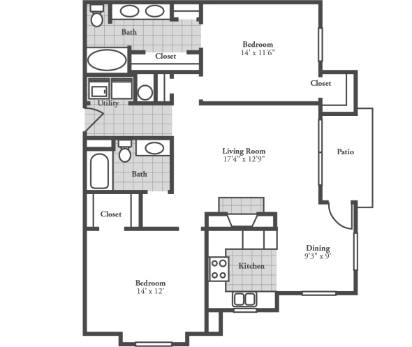 2 Bedrooms 2 Bathrooms Apartment for rent at Crowne At Campus Pointe in Knoxville, TN