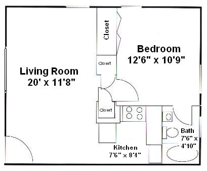 1 Bedroom 1 Bathroom Apartment for rent at Lynn-rock Apartments in Athens, GA