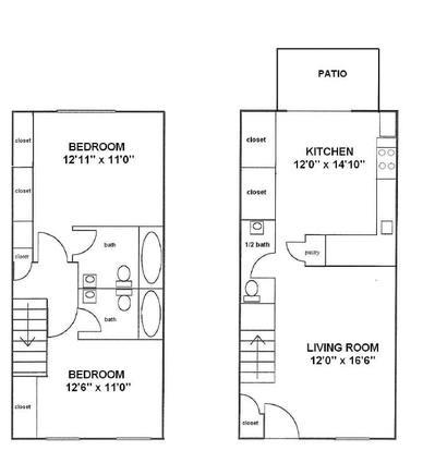 2 Bedrooms 2 Bathrooms Apartment for rent at Tanyard Condominiums in Athens, GA