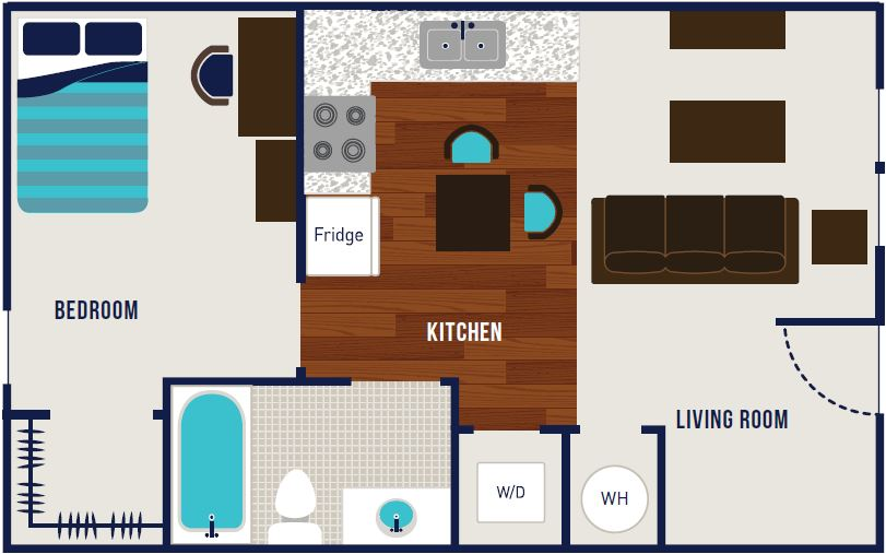 1 Bedroom 1 Bathroom Apartment for rent at The Dillon in Bloomington, IN