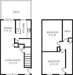 2 Bedrooms 2 Bathrooms Apartment for rent at Salem Woods in Trotwood, OH