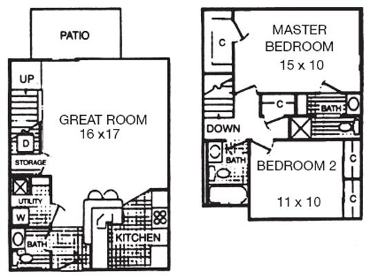 2 Bedrooms 2 Bathrooms Apartment for rent at Crown Woodhills Apartments in West Carrollton City, OH