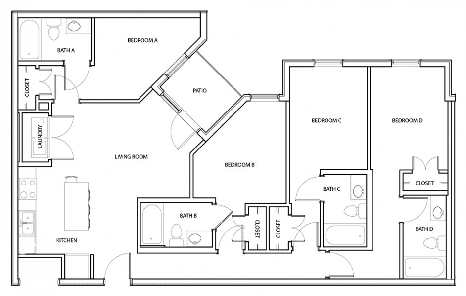 4 Bedrooms 3 Bathrooms Apartment for rent at The Standard At Knoxville in Knoxville, TN