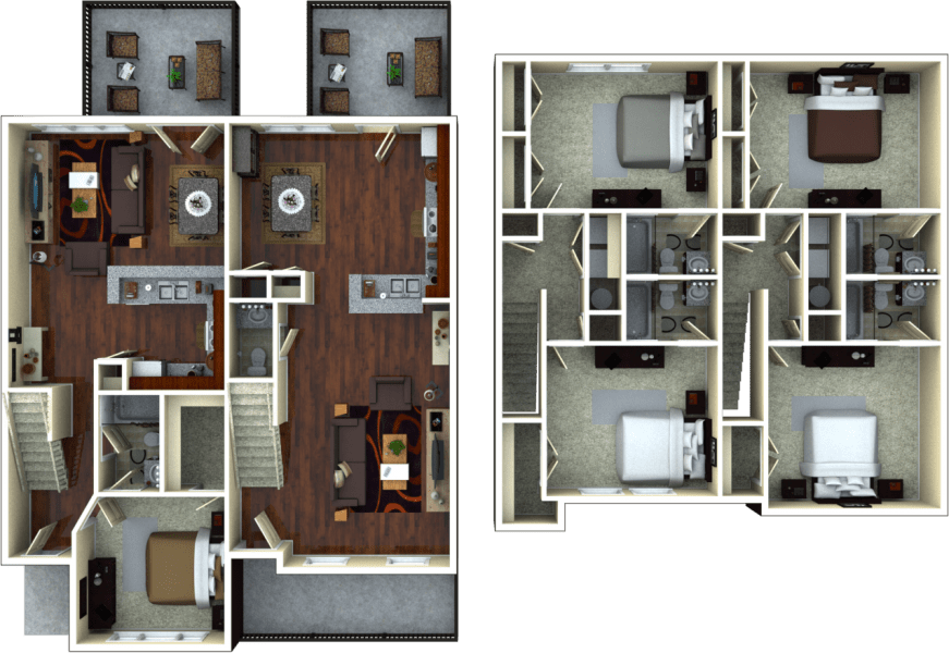 2 Bedrooms 2 Bathrooms Apartment for rent at The Retreat At College Station in College Station, TX