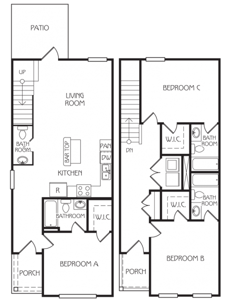 3 Bedrooms 3 Bathrooms Apartment for rent at The Retreat At Gainesville in Gainesville, FL
