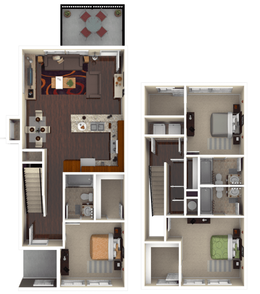 3 Bedrooms 3 Bathrooms Apartment for rent at The Retreat At College Station in College Station, TX