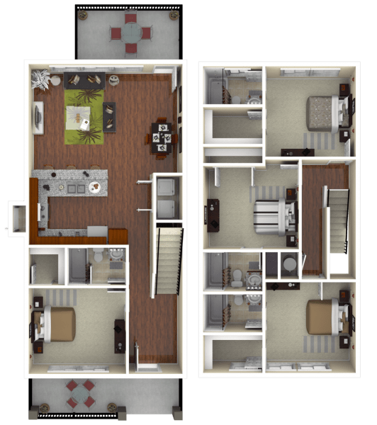4 Bedrooms 3 Bathrooms Apartment for rent at The Retreat At Gainesville in Gainesville, FL
