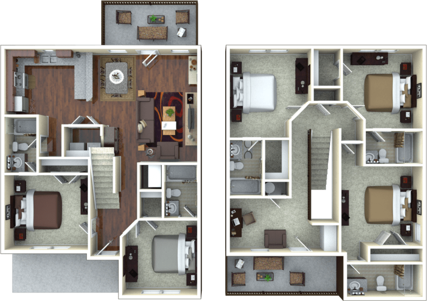 5 Bedrooms 3 Bathrooms Apartment for rent at The Retreat At Gainesville in Gainesville, FL