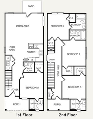 4 Bedrooms 3 Bathrooms Apartment for rent at The Retreat At Tucson in Tucson, AZ