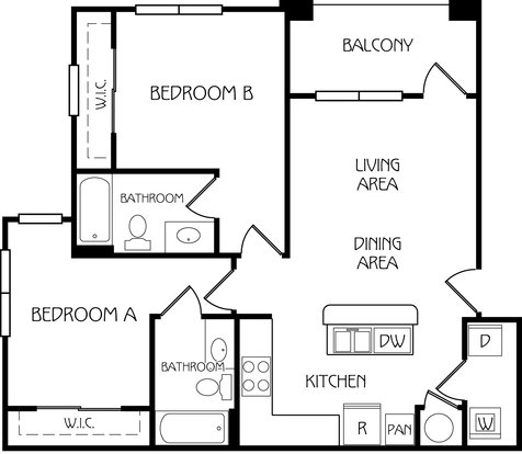 2 Bedrooms 2 Bathrooms Apartment for rent at Retreat At Corvallis in Corvallis, OR