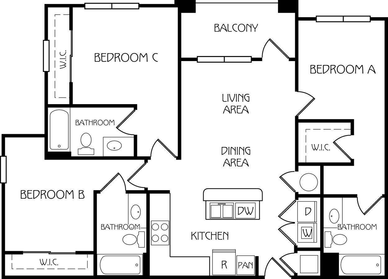 3 Bedrooms 3 Bathrooms Apartment for rent at Retreat At Corvallis in Corvallis, OR