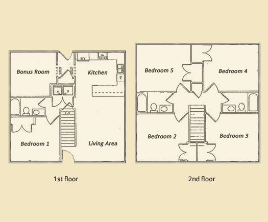 5 Bedrooms 3 Bathrooms Apartment for rent at The Oaks in Athens, GA