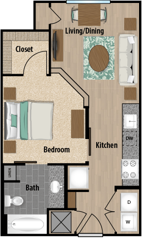 Studio 1 Bathroom Apartment for rent at 5000 Forest in Columbia, SC
