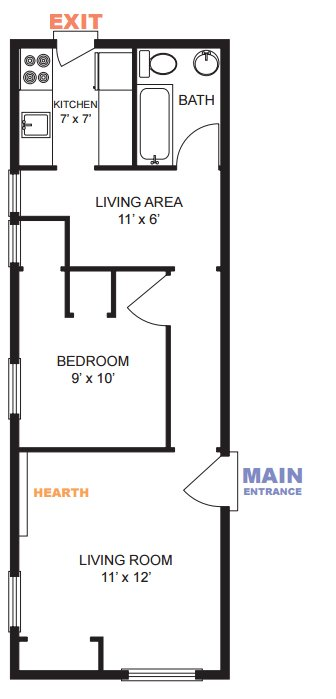 1 Bedroom 1 Bathroom Apartment for rent at 209 N Ingalls St in Ann Arbor, MI