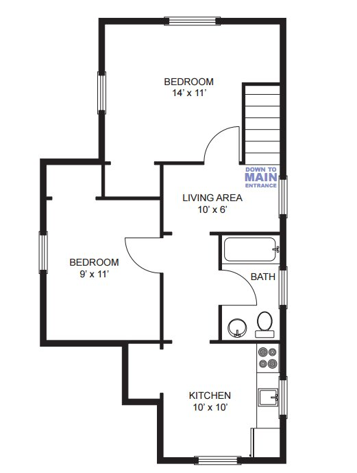 2 Bedrooms 1 Bathroom Apartment for rent at 516 S 4th Ave in Ann Arbor, MI