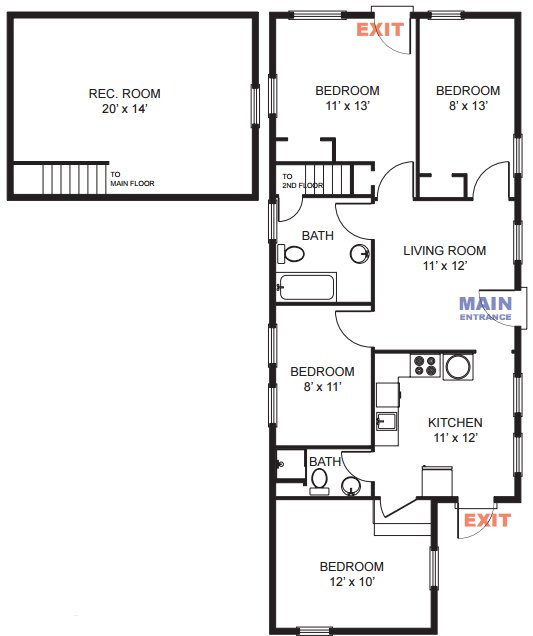 4 Bedrooms 2 Bathrooms Apartment for rent at 206 N Thayer St in Ann Arbor, MI