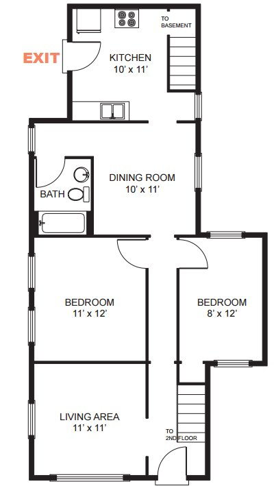 5 Bedrooms 2 Bathrooms House for rent at 808 Catherine St in Ann Arbor, MI